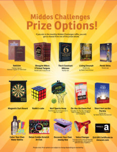 Prize options